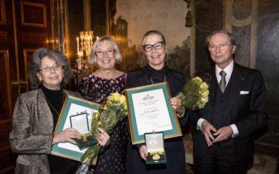 Marie Ledin och Nina Balabina tilldelas Medalj för Betydande Gärning resp Betydande Fostrargärning