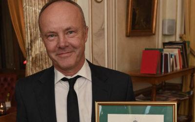 Fredrik Sjöberg tilldelas medalj för betydande gärning