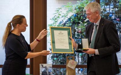 Kjell Blückert tilldelas Medalj för betydande gärning